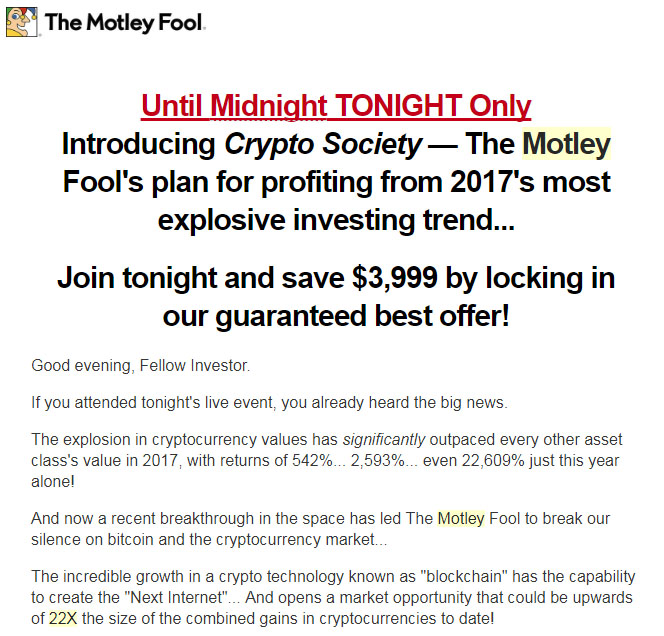 Motley Fool Bitcoin Plan