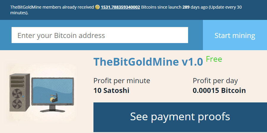 Bitcoin Goldmine New Account
