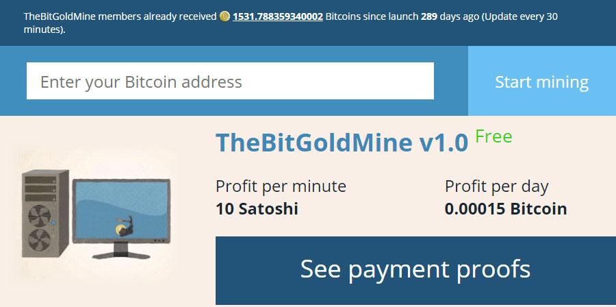 Bitcoin Goldmine New Account