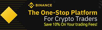Save 10% on fees at Binance